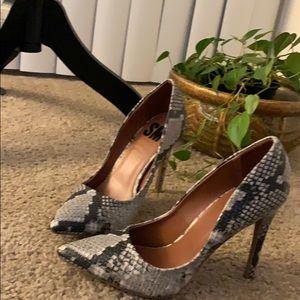"SM New York Shoes - SM snake print 4"" heels never worn"